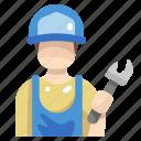 avatar, maintenance, people, repair, spanner, wrench