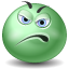 displeased, green icon