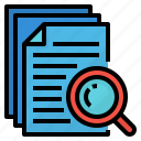 data, document, freelance, research icon