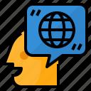 freelance, job, translate, translation icon