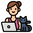 freelance, home, job, work icon