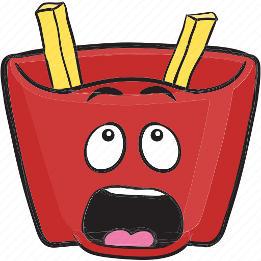 Cartoon, emoji, fast, food, french, fries, fry icon - Download on Iconfinder