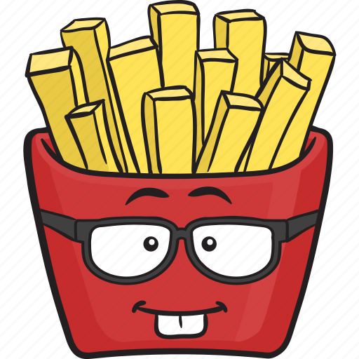 Cartoon, emoji, fast, food, french, fries, fry icon | Icon ...