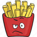 food, fries, fast, french, fry, cartoon, emoji