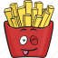 cartoon, emoji, fast, food, french, fries, fry icon