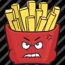 cartoon, emoji, fast, food, french, fries, fry