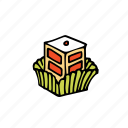 bakery, berry, dessert, food, french, pastry, sweets icon