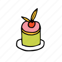 bakery, cherry, dessert, food, french, pastry, sweets icon