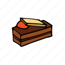 bakery, chocolate, dessert, food, french, pastry, sweets icon