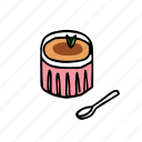 bakery, brulee, creme, dessert, food, pastry, sweets icon
