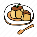 bakery, caramel, dessert, food, french, pastry, sweets icon