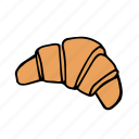 bakery, croissant, food, french, kitchen, pastry, restaurant icon