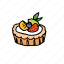 bakery, dessert, food, fruit, pastry, sweets, tart icon
