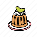 bakery, dessert, food, french, pastry, rum, sweets icon