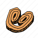 bakery, dessert, food, french, palmier, pastry, sweets icon