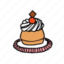 bakery, dessert, food, french, kitchen, pastry, restaurant icon