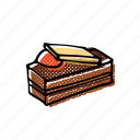 bakery, cake, chocolate, dessert, food, pastry, sweets icon