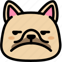 annoying, dog, emoji, emotion, expression, face, feeling icon