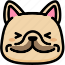dog, emoji, emotion, expression, face, feeling, happy icon