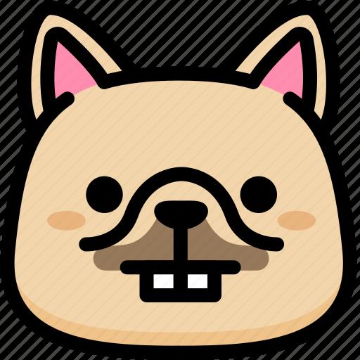 dog, emoji, emotion, expression, face, feeling, nerd icon