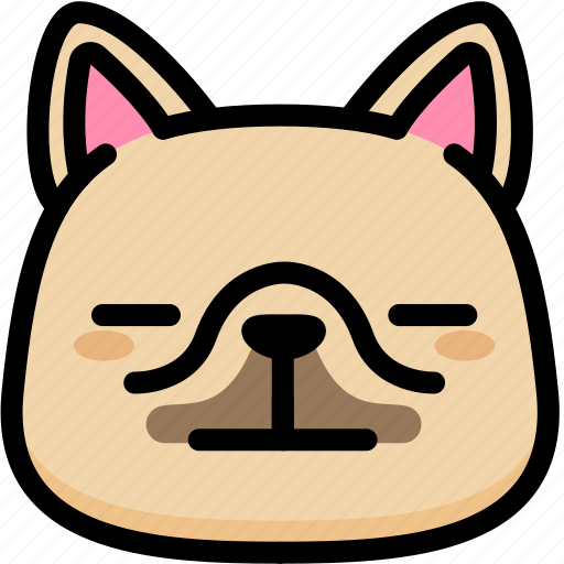emoji, emotion, expression, face, feeling, french bulldog, neutral icon