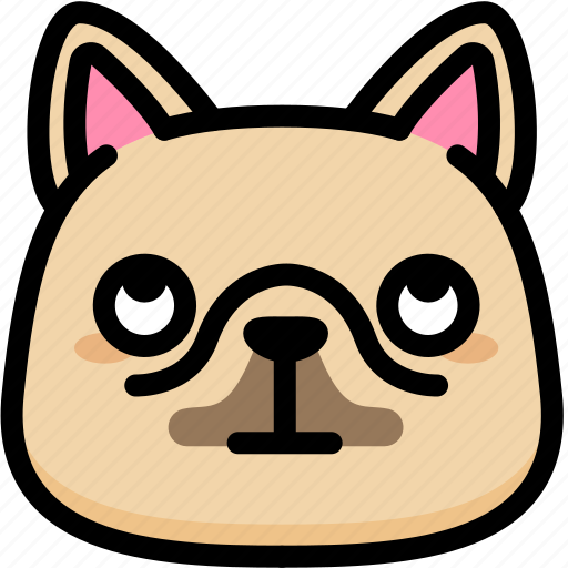 dog, emoji, emotion, expression, eyes, face, rolling icon