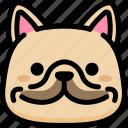 emoji, emotion, expression, face, feeling, french bulldog, smile