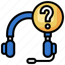 headset, help, info, question, mark, costumer, service