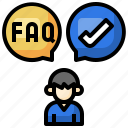 query, approved, question, check, speech, bubble