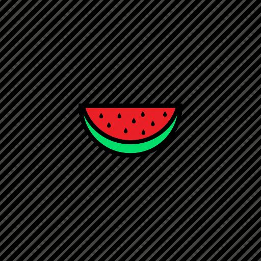 food, fresh, fruit, healthy, sweet, watermelon icon