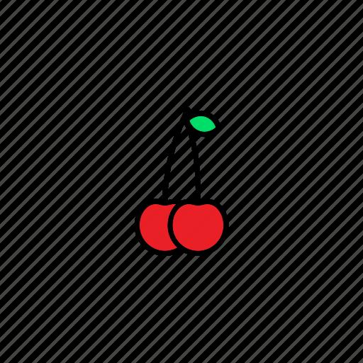 cherry, food, fresh, fruit, healthy, sweet icon