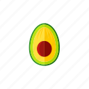 avocado, food, fresh, organic, vegetable, vegetarian icon