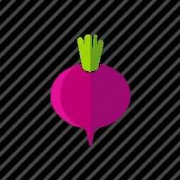 beet, food, fresh, organic, vegetable, vegetarian icon