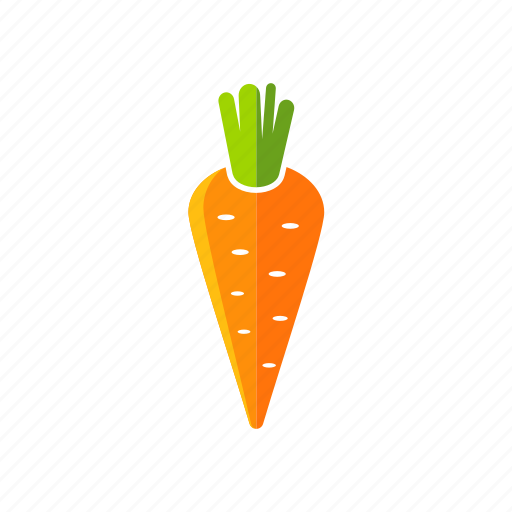 carrot, food, fresh, organic, vegetable, vegetarian icon