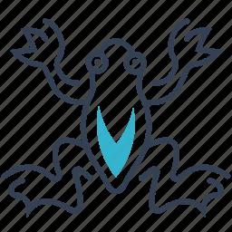 animal, frog, river icon