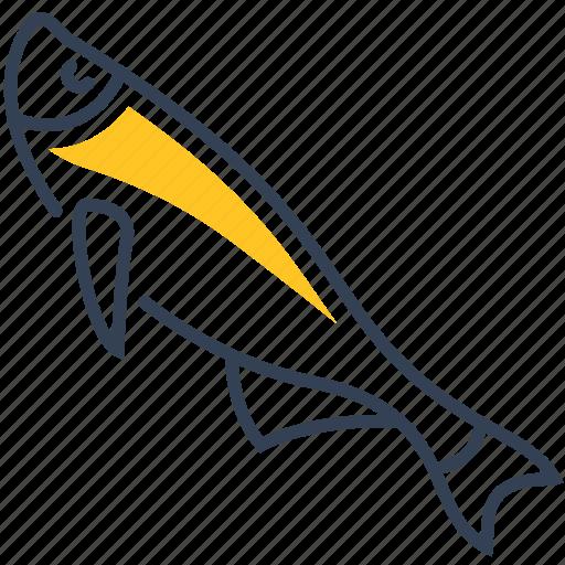 animal, fish, river, ziege icon