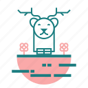 animal, christmas, deer icon