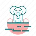 animal, elephant, nature icon