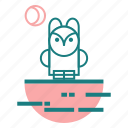 animal, bird, owl icon