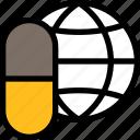 online healthcare, medical, hospital, pills, globe, global, medicine