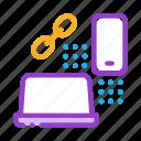 computer, connection, development, internet, it, phone, sphere icon