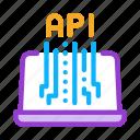 api, development, end, front, internet, it, sphere icon