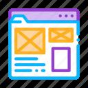 development, end, front, it, site, style, web icon