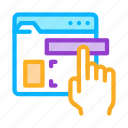 development, dragging, elements, it, site, sphere, web icon