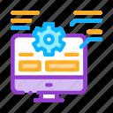 characteristics, development, it, site, sphere, technician, web icon