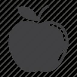 apple, diet, food, fresh, fruit, healthy, vegetarian icon