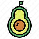 avocado, food, fruit, sweet icon