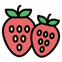 food, fruit, strawberry, sweet icon