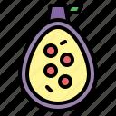 fruit, fig, vegan, food icon