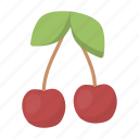 cherry, food, fresh, fruit, health, vitamin icon